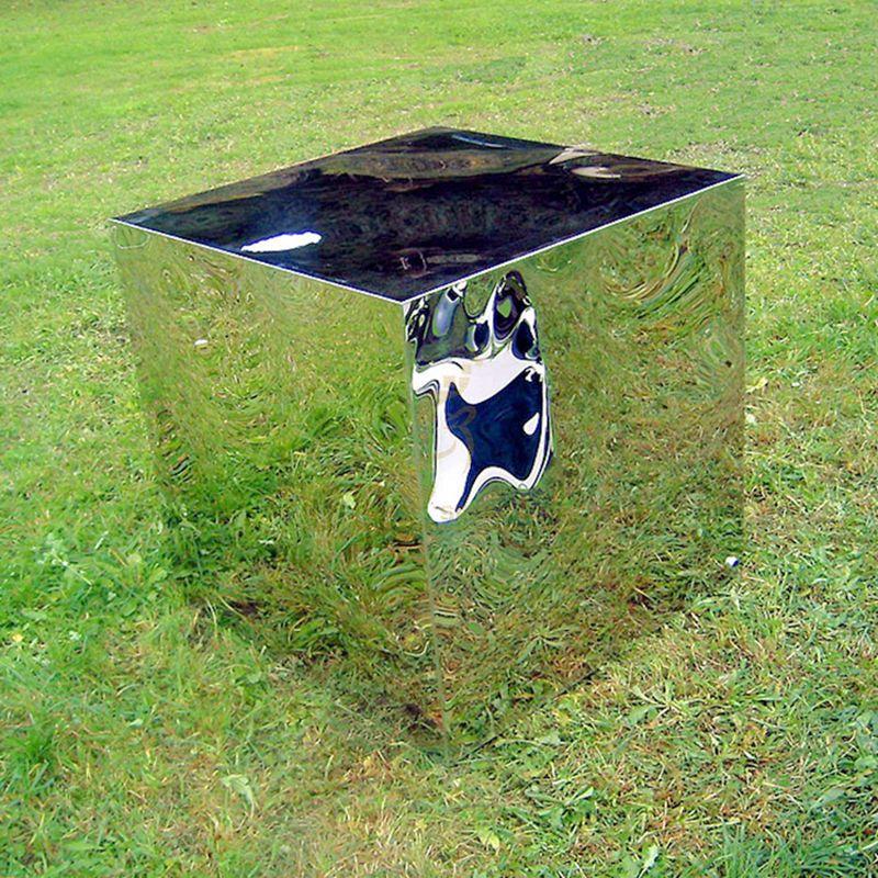 Modern Mirror Finish Stainless Steel Sculpture