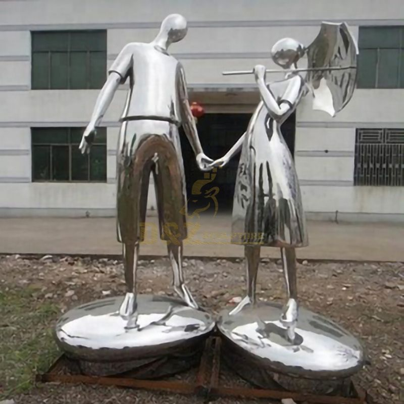 Abstract Figure Stainless Steel Love Sculpture