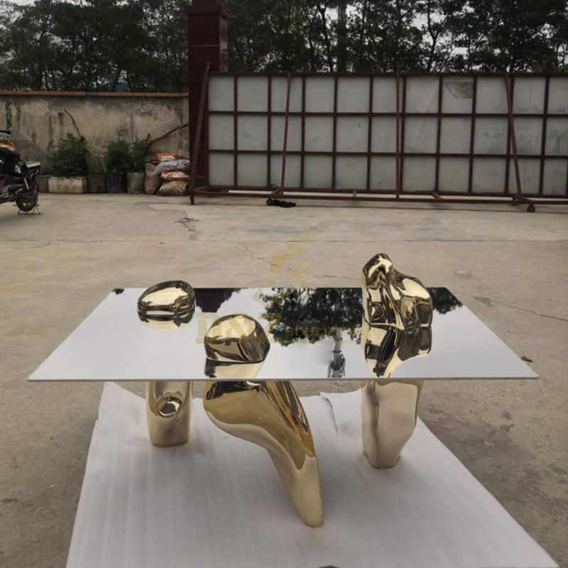 Stainless Steel Coffee Table Sculptures For Ornament Decoration