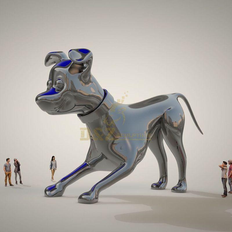 Decorative Mirror Polish Stainless Steel Balloon Dog Sculpture