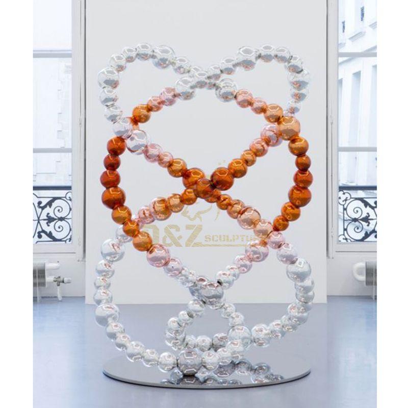 Decorative stainless steel balls symmetrical sculpture