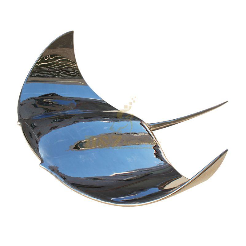 Stainless steel devil fish sculpture metal animal artwork statue